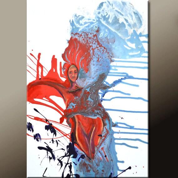 Abstract Art Print 11X14 Contemporary Modern Wall Art Print by Destiny Womack  - dWo - Heavens Embrace