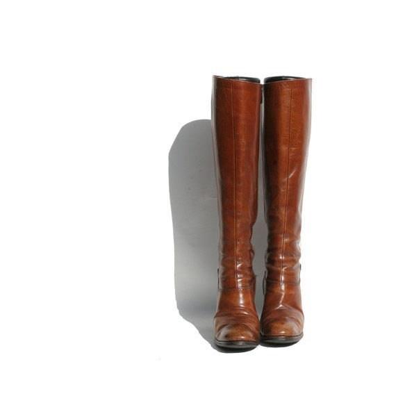 Mocha Brown Ferragamo tall Boots size: 5