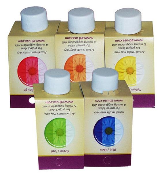 Castin 39 craft transparent dye set all 5 colors for resin for Castin craft resin dye