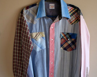 Unique Multi Color Western Rodeo Shirt