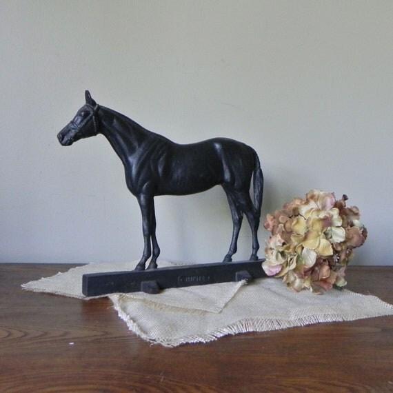 Resv Nadine Vintage Cast Iron Horse Equestrian By Jollytimeone