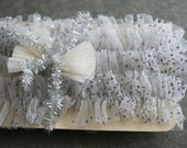 Winter Frost Sparkling Silver Handmade Tulle Ruffles