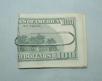 Sterling Silver Paper Clip Money Clip - Free Shipping in the USA