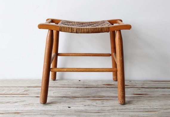 Woven Hickory Style Seat Stool