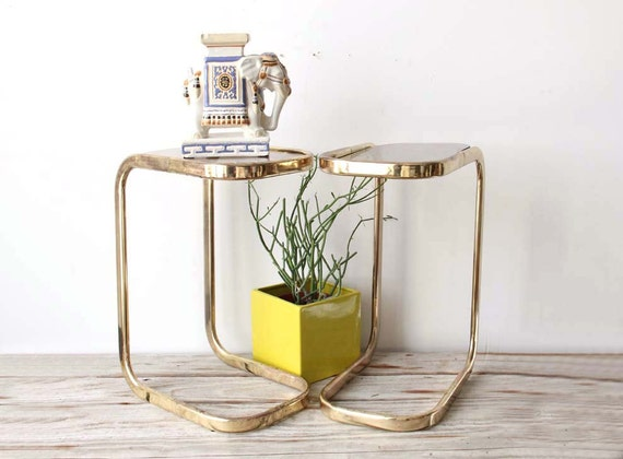 Glam Brass Cigarrette Side Table