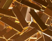 NuGold Tags - 24 Gauge, Stamping Blanks, Metal Blanks, NuGold Bar, NuGold Tags, Jeweler's Gold, Rectangular Blanks