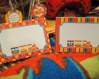 DIGITAL Tented Food or Table Sign - Chugga Chugga Two Two (Choo Choo) train theme - Can be changed to any age
