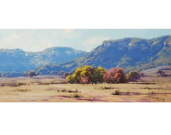 AUSTRALIAN FARM PAINTING Original Landscape oil on canvas by g. Gercken