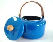 Vintage Cobalt Blue Tea Kettle