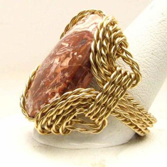 Handmade 14kt Gold Filled Rosetta Ring