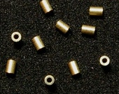 1.5MMx2MM 14k Solid Yellow Gold Crimp Tube Beads (10)