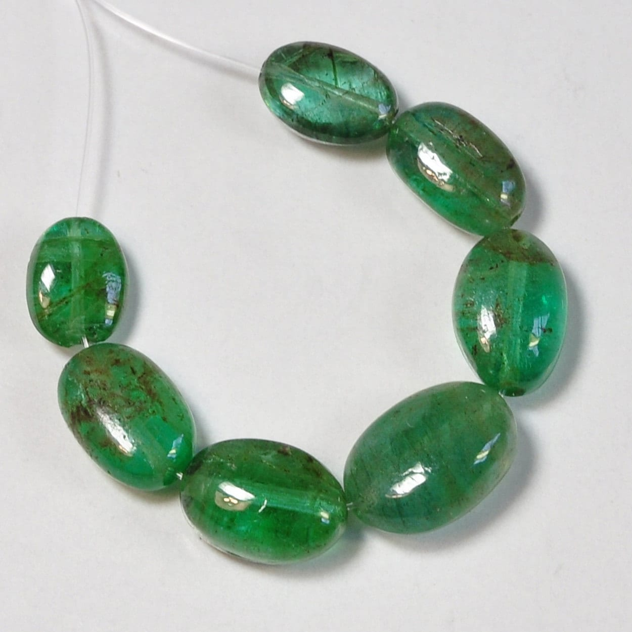 Emerald Bead Beads: Natural Organic Zambian EMERALD Tumbled Smooth Nuggets Beads