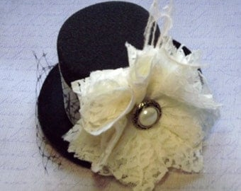 Mini Top Hat Headband, Mad Hatter, Tea Party, Alice In Wonderland, Smash Cake Props, Onederland, Birthday Party Hats, Baby Headbands