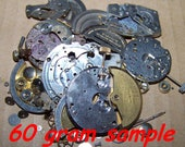 2oz Big Parts Plus 60g LOT STEAMPUNK Great Parts Pieces Like Mix in Pics Dials Watch Wheels Crowns