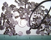 100 Large Pendant Bails Antiqued Silver Hearts Flat Glue Pad Finding Dichroic Scrabble
