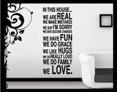 In This House.... We Do - Vinyl Decal