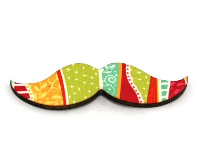 Moustache Brooch, Illustration Jewelry, Movember Facial Hair Accessory, Father's Day Gift