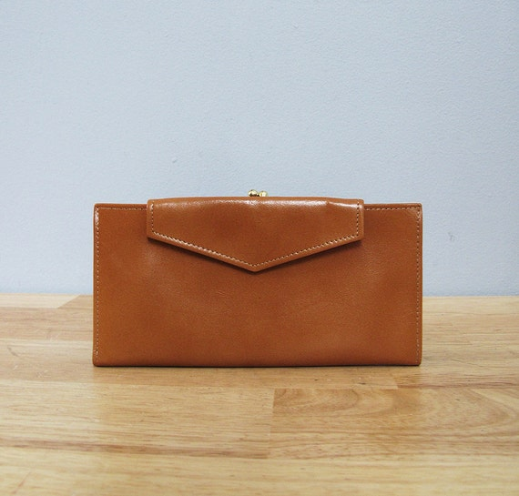 1970s deadstock CARAMEL leather wallet princess gardner