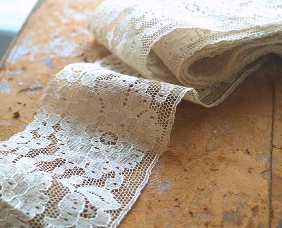 Vintage Wide Band Net Lace Trim