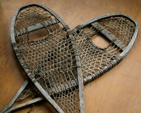 Rustic Antique Snowshoes Holiday And Cabin Decor By 5gardenias