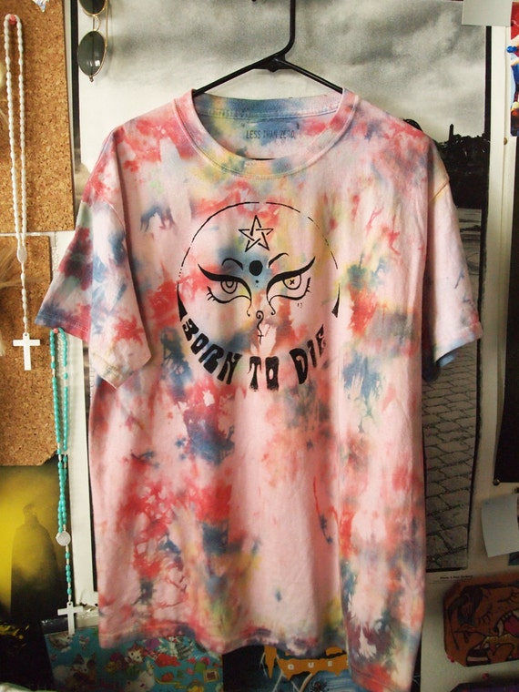 BORN to DIE// Lana Del Rey Occult Inspired Rainbow Tie Dye Shirt OVERSIZED