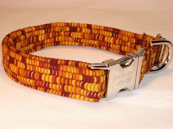 Beautiful Fall Indian Corn Collar by Swankypet