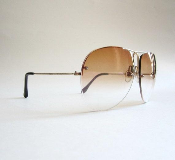 1970s Rimless Aviator Sunglasses
