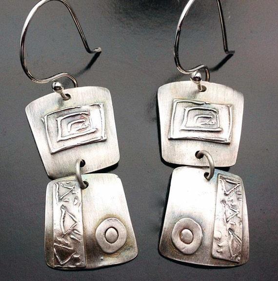 Double Take -  Silver Earrings