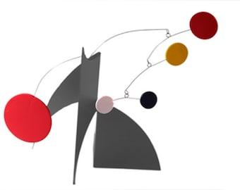 THE MODERNE Art Stabile - Tabletop Moving Sculpture Calder Inspired Mid Century Modern Eames Retro