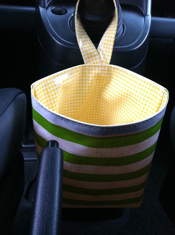 Beth's Oilcloth Car trash bag