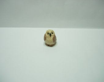 1/12th scale dolls house miniature brown owl