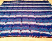 Hand Crochet Lap Size Afghan