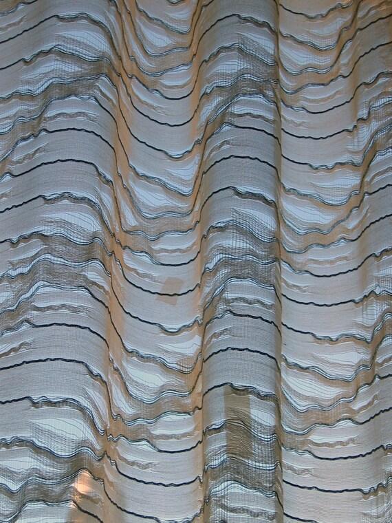 Transparent sheer designer drape curtain panel