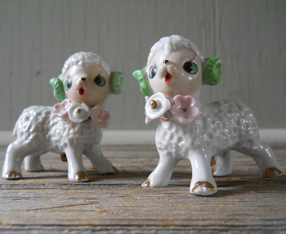 Vintage Japan Lamb Ram Salt and Pepper Shakers