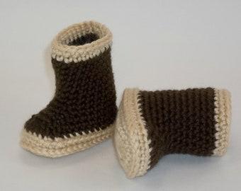 Baby  Booties  Rain Boots Alaskan Xtra Tuffs Style Crochet