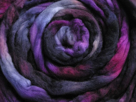 150g Space-dyed Merino/Cashmere Top - Ultraviolet
