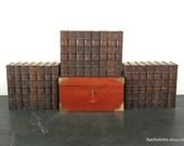1860s Washington Irving Works, 22 Book Set, Leather Bound, Ridgely Estate Baltimore