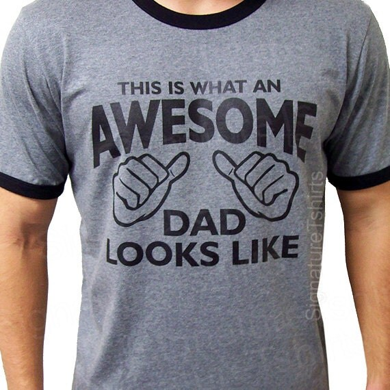 AWESOME DAD This Is What An Dad Looks Like Mens Daddy T-shirt