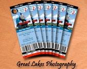 Personalized Thomas The Train Birthday Ticket Invitation - Digital File
