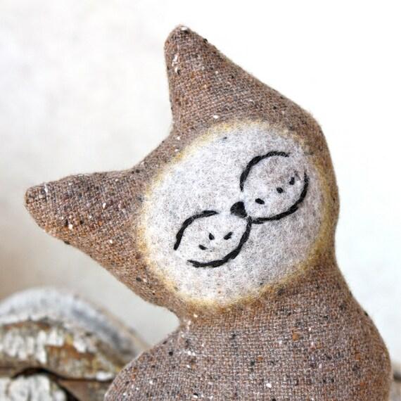 Cat Plush Folk Wool - Stone Mountain Cat