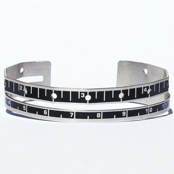 Sewing Gauge Ruler Bracelet Cuff- Found Object Jewelry