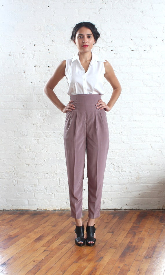 RESERVED //  high waisted pants mauve trousers (xs)
