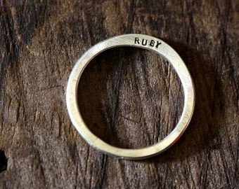Modern Wedding Ring (E0222)
