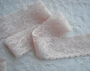SALE 2 yds STRETCH Lace FLESH Nude No Slip Lingerie Headband Camisole Clothing Altered Couture Designs