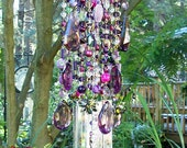 Purple Dreams Antique Crystal Wind Chime