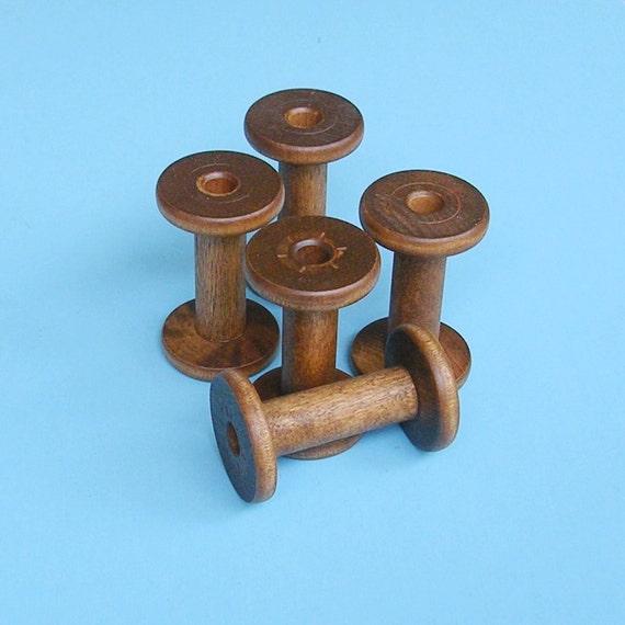 Antique Vintage Wood Spools Wooden Spools Bobbin Bobbins Textile Spools Bobbins Reserved For Louise Please Do Not Buy