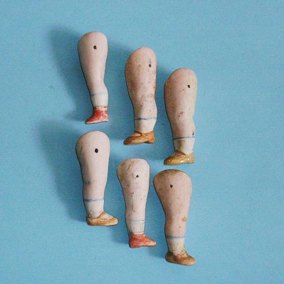 Vintage Antique German Doll Legs German Frozen Charlotte Doll Legs DIY Jewelry Doll Legs