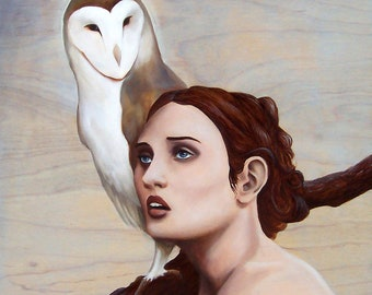 The Messenger - ORIGINAL figurative oil painting, one of a kind