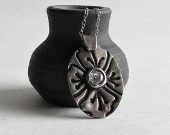 Precious Metal Clay - Floral Jewelry - Floral Necklace
