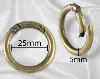 "100pcs - 1"" Gate Ring Antique Brass - Free Shipping (GATE RING GRG-112)"